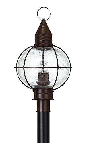 (Hinkley 2201SZ Rustic Four Light Post Top/ Pier Mount from Cape Cod collection in Bronze/Darkfinish,)