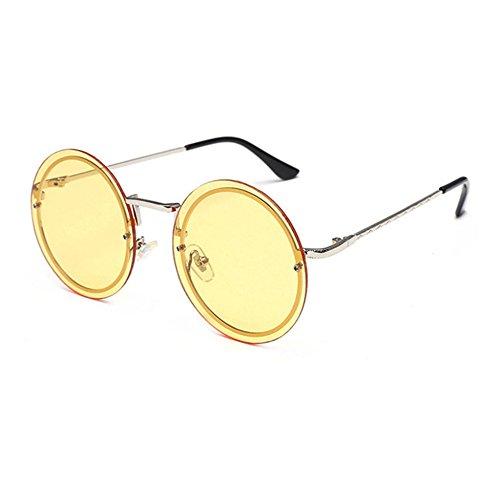 Aoligei Trendy rond cadre populaire rétro hommes et femmes générales lunettes de soleil lunettes de soleil xoxBAunGe