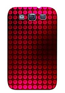 lintao diy Catenaryoi Brand New Defender Case For Galaxy S3 (red Dotted Texture ) / Christmas's Gift
