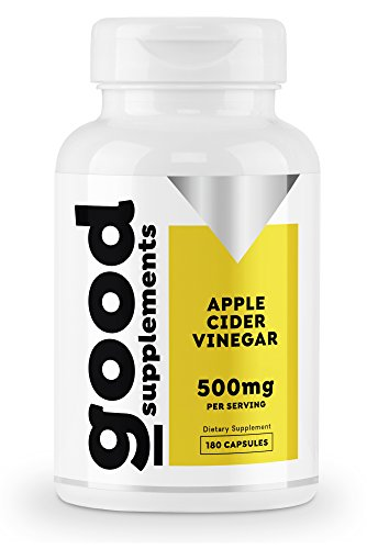 Apple Cider Vinegar Capsules - Detox Pills Extra Strength, Speedy Weight Loss, Detox and Cleansing Support - Good Supplements - 500mg Per Serving, 180 Pills, Non GMO, Made in USA