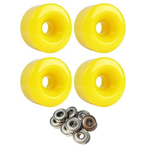 蓮受粉者保有者スケートボードクルーザーホイール58 mm x 33 mm 83 a 012 CイエローABEC 7 Bearings