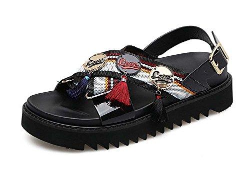 カジュアルサンダル夏新しい英国スタイルフラットシューズメスCollege Studentsタッセル靴