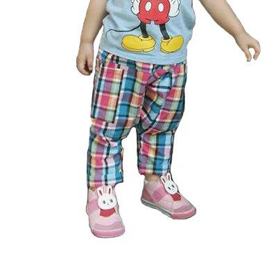 Best Berry Lovely Harem Fisherman Hippie Boho Casual Pants for Children Black-White