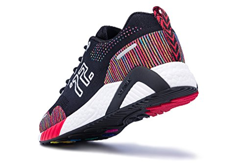 2018 Unisex Stylish Lace up Athletic Fitness Jogging Walking Sneakers Black/Red clearance for sale buy cheap ebay for sale discount sale collections cheap online VQziAh