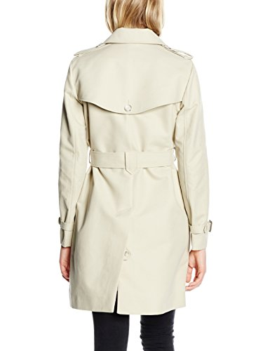 French Connection Freeway Cotton Ls Belted Coat, Abrigo para Mujer Gris