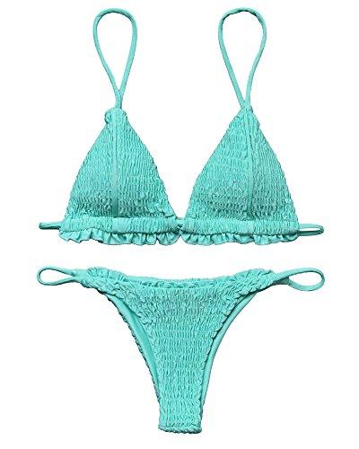 Blue 2 Piece Bikini Swimsuit - 8