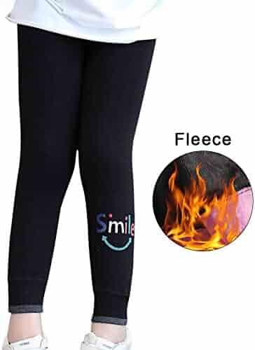 411b1fdd6a1f8 Tesuwel Kids Girls Leggings Fleece Lined Leggings Animals Printed Winter  Warm Thick Pants