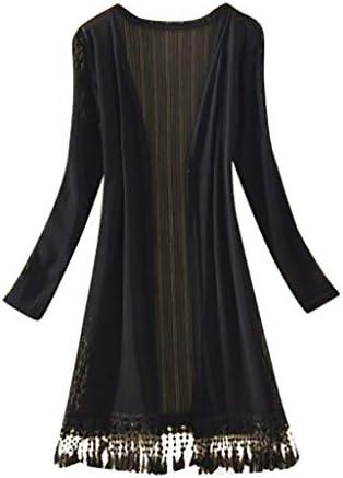 [해외]여성용 섹시 탑 2019 YEZIJIN 패션 여성 선스크린 셔츠 가디건 긴소매 태슬 레저 블라우스 / 여성용 섹시 탑 2019 YEZIJIN 패션 여성 선스크린 셔츠 가디건 긴소매 태슬 레저 블라우스