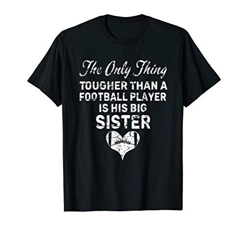 Tough Big Sister Football Shirt For Older Sister & Lil Bro ()