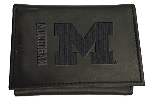 Team Sports America Leather Michigan Wolverines Tri-fold Wallet