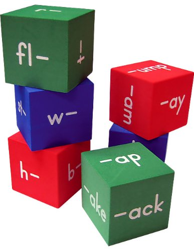 word family foam cubes first second grade games families
