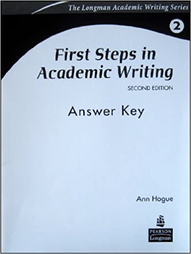 first steps in academic writing answer key pdf free download