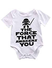 TTStore Newborn Star Wars Baby Clothes Cotton Romper Playsuit Sunsuit Outfits Infant Boys Girls Summer Rompers Costume