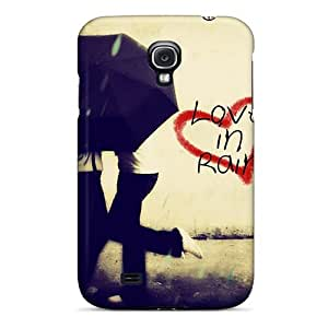 New Style Tpu S4 Protective Case Cover/ Galaxy Case - Love In Rain