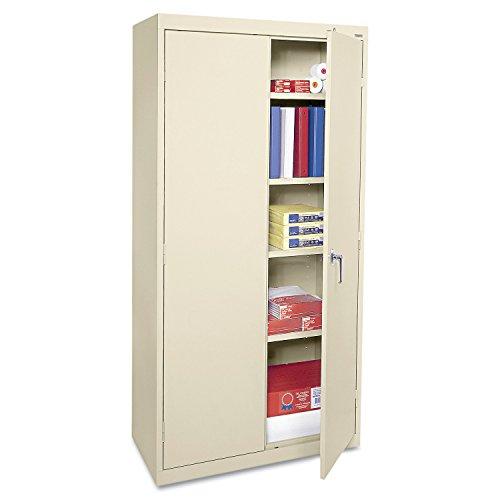 Basyx Mahogany File Cabinet - Alera ALECME7218PY Economy Assembled Storage Cabinet, 36w x 18d x 72h, Putty