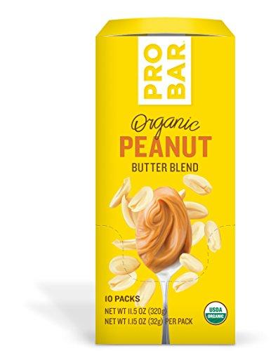 PROBAR Peanut Butter + No Caffeine Blend, 10 Count - USDA Organic, Gluten Free, Organic Plant-Based Butter by Probar