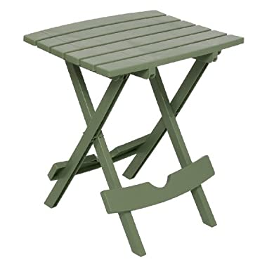 Adams Manufacturing 8500-01-3700 Plastic Quik-Fold Side Table, Sage