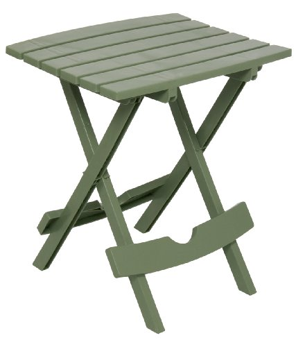 Adams Manufacturing 8500-01-3700 Plastic Quik-Fold Side Table, Sage