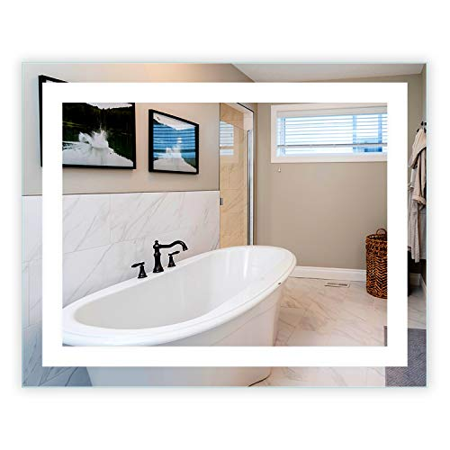 LED Front-Lighted Bathroom Vanity Mirror: 40