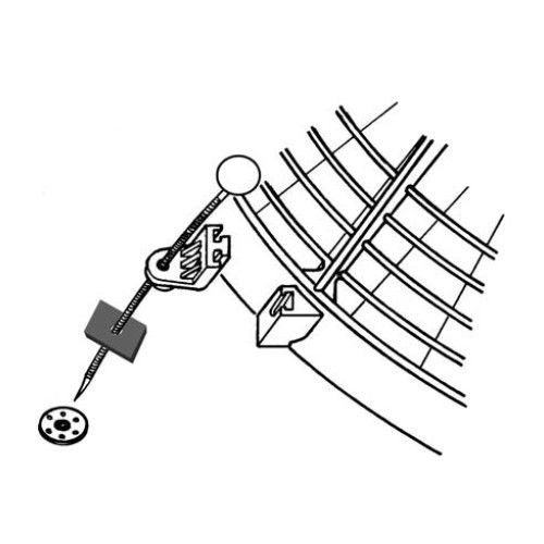 American Volt Electric Radiator Fan Tie Strap Mounting Kit 4 Pack Zip Ties Straps Tabs Springs