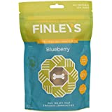 Finley's Barkery Blueberry Wheat-Free Dog Treats – Natural Crunchy Limited Ingredient Dog Biscuits Free of Corn & Soy (8 oz)