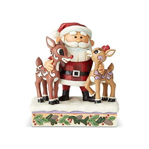 Enesco Rudolph Traditions by Jim Shore Santa Hugging Rudolph Figurine