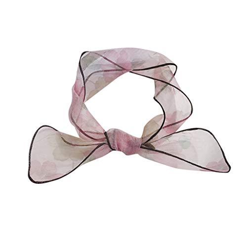 (HYIRI Light Soft Vintage Elegant Designs Silk Satin Feel Ladies Small Square Head Neck)