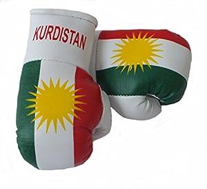 Mini Boxhandschuhe KURDISTAN, 1 Paar (2 Stück) Miniboxhandschuhe z. B. für...