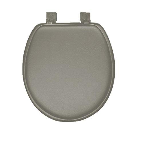 Soft Padded Toilet Seat - Grey Soft Padded Round Toilet Seat