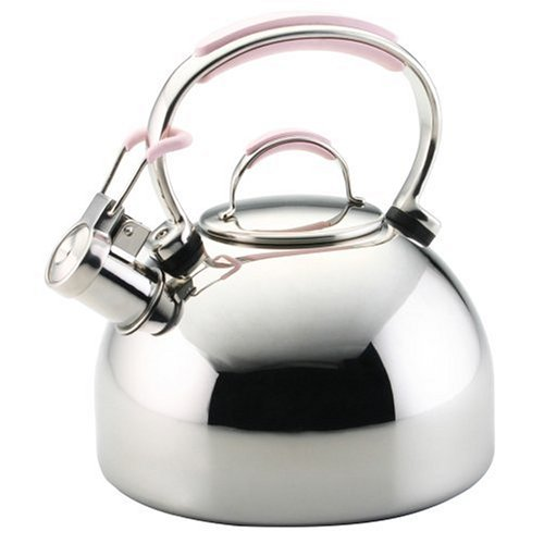 KitchenAid Cook For the Cure Limited Edition 2-Quart Stainless-Steel Teakettle with Pink Silicone