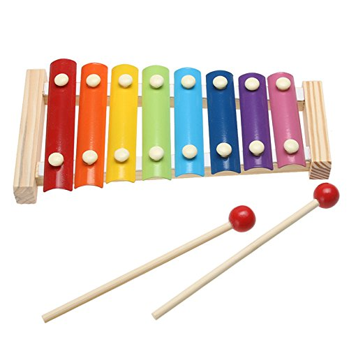 Kids 8-Note Wooden Musical Toys Teaching Aid Child Early Educational by Single Mom