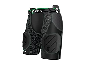 CuttersRev Impact 5-Pad Short with Removable Hard Cap, Youth (Medium)