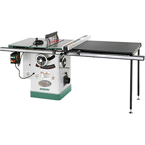 Grizzly G0691 Cabinet Table Saw with Long Rails and Riving Knife, 10-Inch ()
