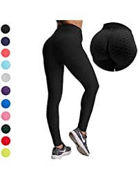 5cf05bf8f249 Women Ruched Butt Yoga Pants Lifting Leggings High Waisted with Pockets  Sport Tummy Control Gym · YOFIT