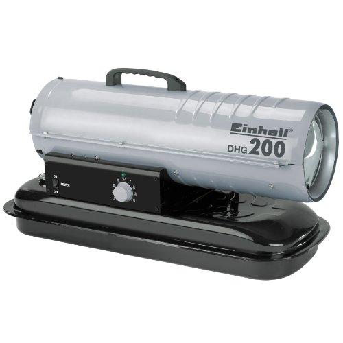Einhell Diesel Heizgebläse DHG 200 (Heizleistung bis 20 kW, 400 m³/h Luftdurchsatz, 19 l Tank, elektrische Zündung, Thermostat)