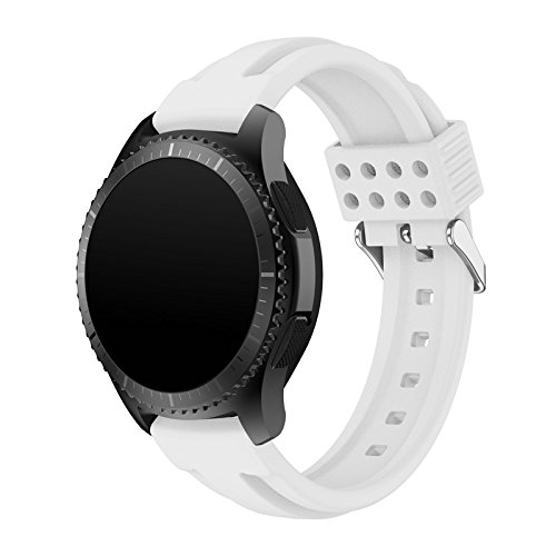 detailed look 616a4 374f3 Gear S3 Bands Silicone, Maxjoy S3 Classic Frontier Watch Band Galaxy Watch  46mm Bands 22mm Soft Silicone Waterproof Rubber Sport Replacement Strap ...