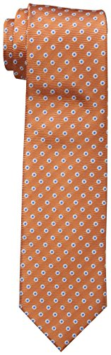 Dockers Big Boys' Dot Necktie, Orange, One Size