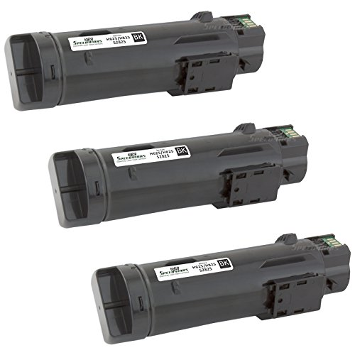 Speedy Inks - 3PK Compatible Black Toner Cartridge N7DWF for Dell H625/H825 Laser Printers for use in Dell H625cdw,Dell H825cdw,Dell S2825cdn
