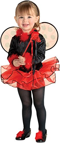 UHC Little Girl's Lil Ladybug Outfit Toddler Kids Fancy Dress Halloween Costume, (Lil Ladybug Infant Costume)