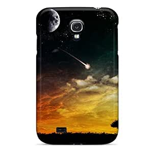 Durable Defender Case For Galaxy S4 Tpu Cover(night)