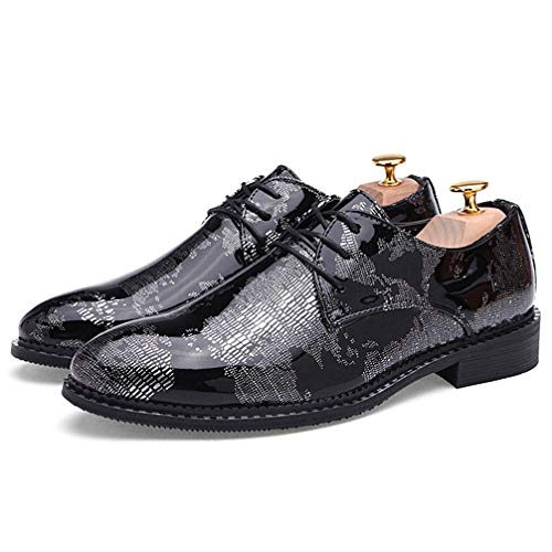 Mens Oxford Shoes Pointed-Toe Lace Up Business Comfortable Casual Formal ()