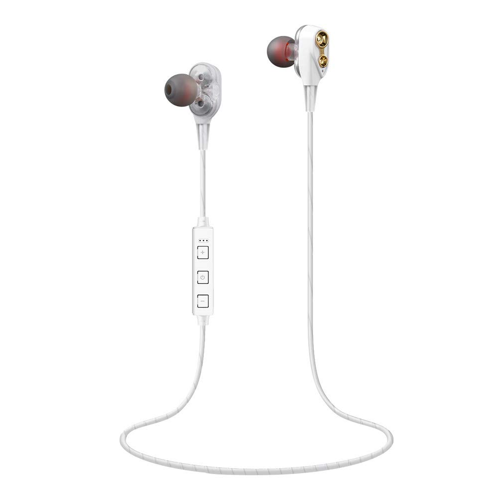 Challeng Cuffie Bluetooth Senza Fili, Cuffie Audio con Smartphone, Cuffie Bluetooth Senza Fili, con Custodia di Ricarica, Mini Auricolari in-Ear con Microfono Nero Nero