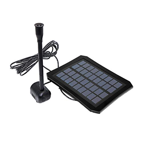 LEERYAAY Artificial Waterfall Pond Fountain Solar Led Water Pump Garden Outdoor Park Mini Black