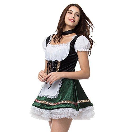 Bar Maid Costume Plus Size (Oktoberfest Lederhosen Costume Bar Maid Cosplay Costume Dresss Halloween Cosplay Costume(Kids size))