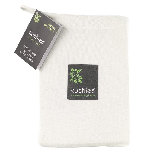 Kushies Organic Jersey Fitted Off White