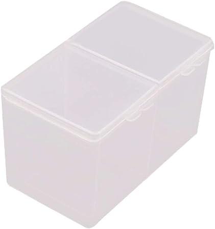 jinqiao - Juego de 2 Compartimentos para Herramientas de uñas (algodón Transparente, Caja de Almacenamiento): Amazon.es: Hogar