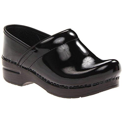 3f653f3f51c2a Dansko Élégant Large Pro Femmes Mules Et Sabots Chaussures, Chaussures  Élégantes Noir Brevet