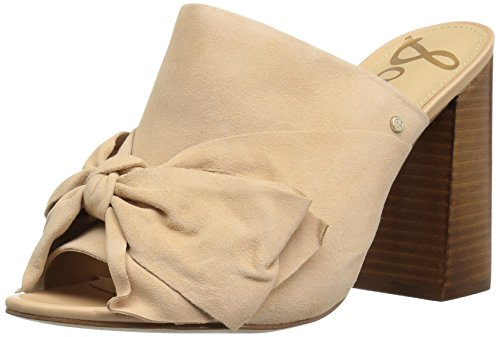 Bow Mule (Sam Edelman Women's Yumi, Natural Naked Suede, 8.5 M US)