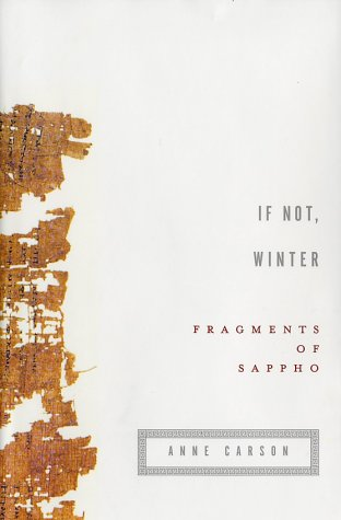 If Not, Winter: Fragments of Sappho (English and Greek Edition) by Knopf