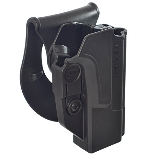 Orpaz 1911 Gun Holster Polymer 360 Rotation Paddle & Belt w/ Tension Adjustment Screw Fits all 1911 Makes w/ Picatinny-Rail & Without